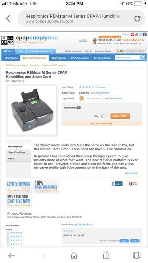 C pap machine. ( bipapplus M-series.) for Sale in Gilbert, AZ