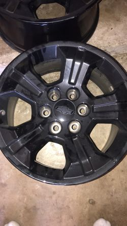 18 in black Chevy rims for Sale in Oak Point,  TX