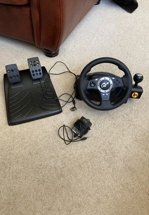 Logitech driving force pro (Play station 2, 3, and PC compatible force feedback racing wheel with pedals) for Sale in Clovis, CA