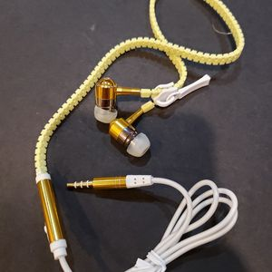 Earbuds Earphones In-Ear Stereo Headset With Microphone, on & off control. Zipper design. Wired headset for phone talk. New for Sale in Long Beach, CA