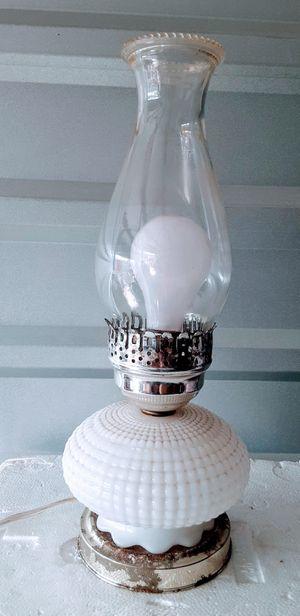 Milk glass hurricane lamp vintage for Sale in Medford, OR