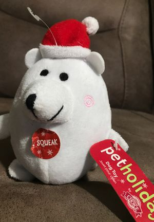 "6"" Xmas dog toy stuffed animal $1 for Sale in Menifee, CA"