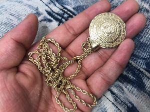 Real Gold 10k chain with 10k Aztec pendant for Sale in Balch Springs, TX