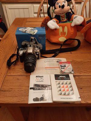 Nikon N75 35mm camera w/lense for Sale in Louisburg, NC