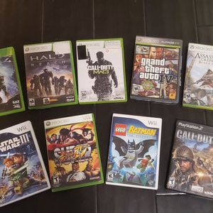 Wii, XBox 360, PS2 Games (COD, Halo, Assassin's Creed..) for Sale in Chandler, AZ