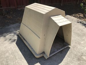 Large Dog House Solid All-Weather Heavy Duty Plastic Tan Beige for Sale in Hercules, CA