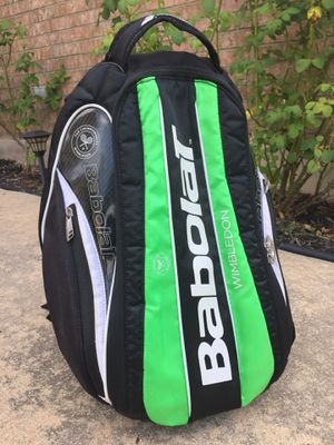 Babolat 2-racket Team Wimbledon tennis backpack - Black & green for Sale in Austin, TX