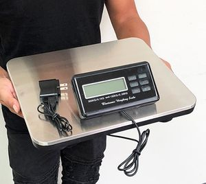 (NEW) $45 LCD AC Digital Floor Bench Scale Postal Platform Shipping 300KG Weight 660lbs for Sale in El Monte, CA