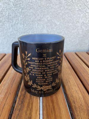 Vintage Gemini Zodiac Milk Glass Mug for Sale in Elk Grove, CA