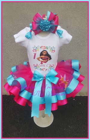 Moana tutu ribbon trim for Sale in Harrison, NJ