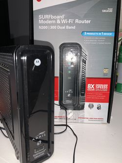 Surfboard Modem & Wifi router N300 for Sale in Moreno Valley,  CA