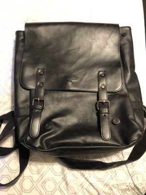 Black pleather backpack. for Sale in Henderson, NV