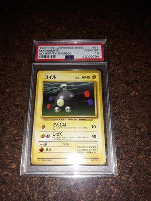 Pokemon Magnemite Japanese Base Basic Set NO RARITY ERROR PSA10 GEM Mint for Sale in Queens, NY