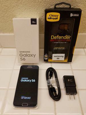 SAMSUNG GALAXY S6 + OTTER BOX CASE for Sale in Anaheim, CA