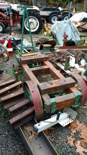 Very Old Steel Spoked Wheel Wagon Engine Cart for Sale in Port Orchard, WA
