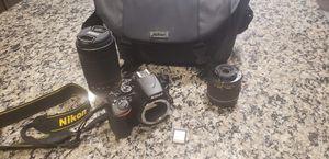 Nikon - D3500 DSLR Two Lens Kit with AF-P DX NIKKOR 18-55mm f/3.5-5.6G VR & AF-P DX NIKKOR 70-300mm f/4.5-6.3G ED for Sale in Fort Worth, TX