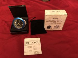 Bulova clock with alarm Good for traveling for Sale in Phoenix, AZ
