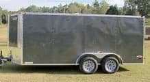 16 ft enclosed cargo trailer no title! for Sale in Houston, TX