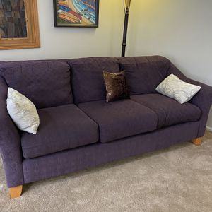 Sofa With Matching Chair, Ottoman And Two Lamps With 4 Shades for Sale in Fox Island, WA