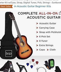 38in Beginner All Wood Acoustic Guitar Starter Kit for Sale in Falls Church,  VA