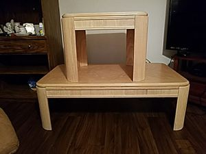 Matching two end tables one coffee table very good shape nice wood for Sale in Sebring, FL