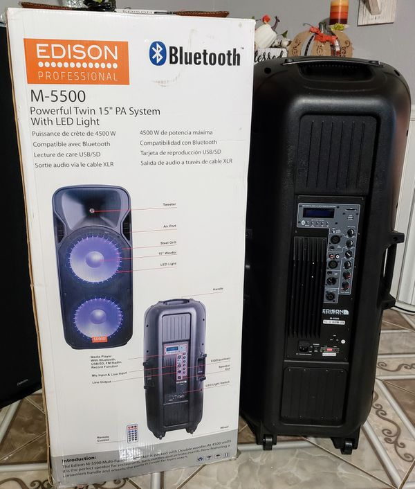 Edison M5500 Self Powered Bluetooth Speaker (Brand New!) for Sale in  Haslet, TX - OfferUp