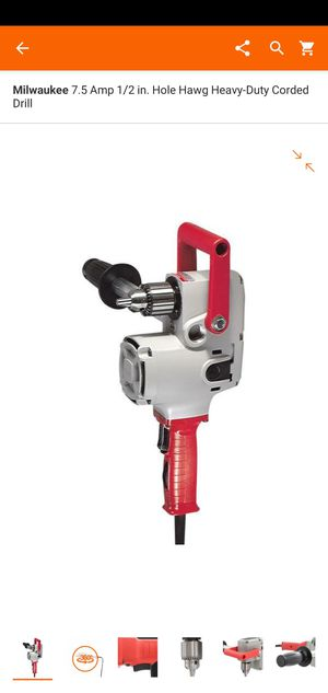 Milwaukee 7.5 Amp 1/2 in. Hole Hawg Heavy-Duty Corded Drill for Sale in Dumfries, VA