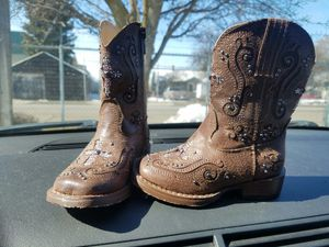 New Toddler girls bling 5c cowgirl boots for Sale in Spokane, WA
