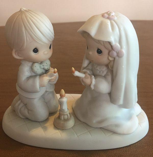 PRECIOUS MOMENTS WEDDING COUPLE LIGHTING UNITY CANDLE