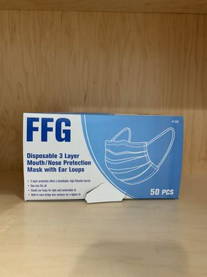 FFG mask Disposable three layer for Sale in Staten Island, NY