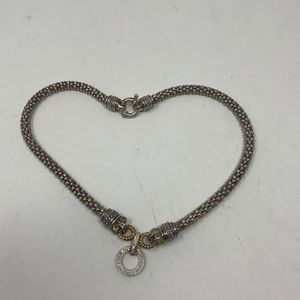 Caviar Silver Necklace With Real Diamonds 53 Grams for Sale in Henderson, NV