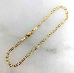 14k solid gold fígaro link bracelet for Sale in North Miami, FL