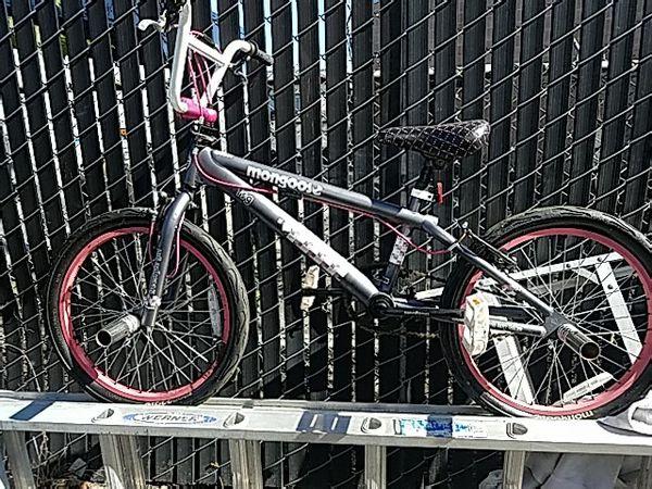 Grey&pink mongoose bmx