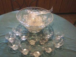 Vintage punch bowl set for Sale in Little Rock, AR