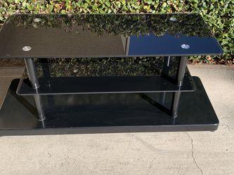 Black Glass Tv Stand $65 (47x17x20) for Sale in Corona,  CA