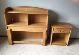 Twin headboard with shelves and matching night stand by Stanley for Sale in Orland Park, IL
