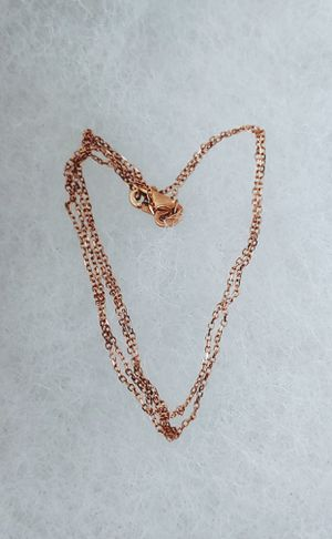 """EUC 14K Rose Gold 0.8mm 16"""" Shimmering Petite Cable Chain Necklace for Sale in Centreville, VA"""