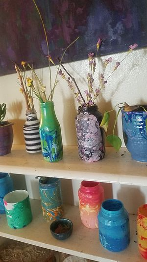 Variety painted jars for Sale in San Clemente, CA