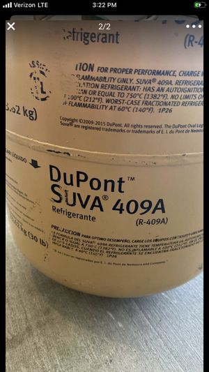 R409A Freon . Almost full for Sale in Surprise, AZ