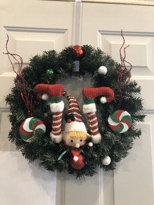 Christmas elf wreath for Sale in Graham, WA