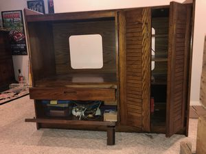 Solid walnut entertainment center for Sale in Homestead, PA