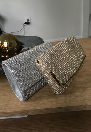 Women's clutches gold and silver for Sale in Meriden, CT