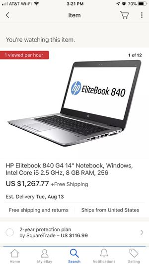 High end half price touchscreen HP laptop with i5 for Sale in Pflugerville, TX
