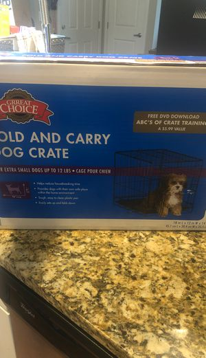 Grreat Choice Fold and Carry Dog Crate for Sale in Mt. Juliet, TN