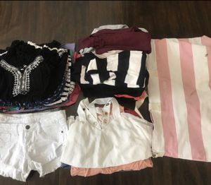 Women's / Junior's Clothing Bundle Dresses Shorts Cardigans Tops for Sale in Fresno, CA