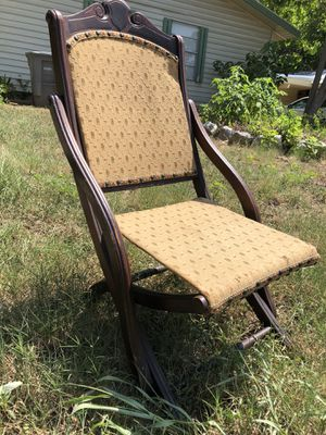 Antique folding concert chair:: pop-up Sale 8-25-18 8am for Sale in Austin, TX