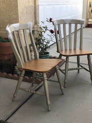 Brand new set of 2 farm house style accent chairs. Retails for over $350 for Sale in Fowler, CA