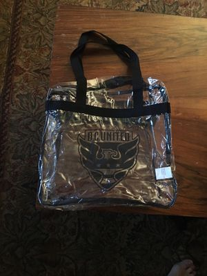 D.C. United Clear Zippered Tote Bag for Sale in Alexandria, VA