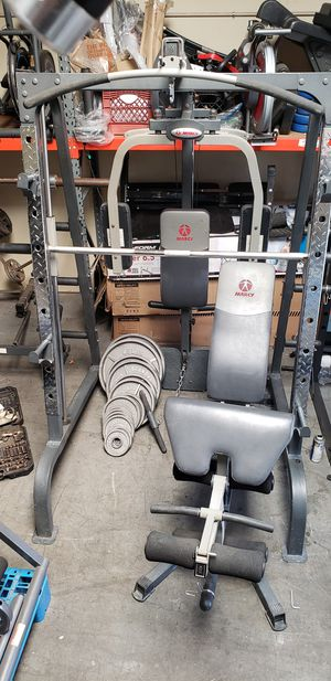 Smith machine with Olympic weights for Sale in Anaheim, CA