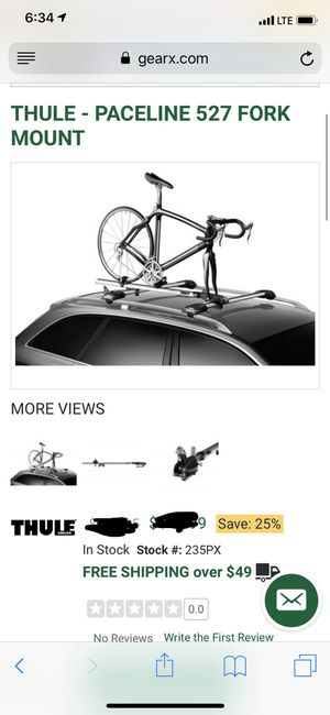Thule roof bike rack for Sale in Queens, NY